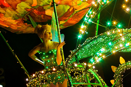Tinkerbell Disney Float Electrical Parade